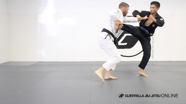 Comp Pull to Ankle Pick Takedown.