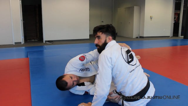 Half Guard - Long Step Pass the Knee Shield
