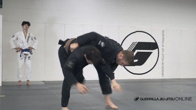 2 on 1 Grip - Using Uchi Mata to make your Partner Turtle