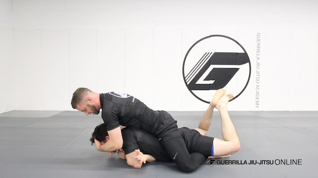 Setting Up D.O.D Back Attack from Knee Shield Half Guard.