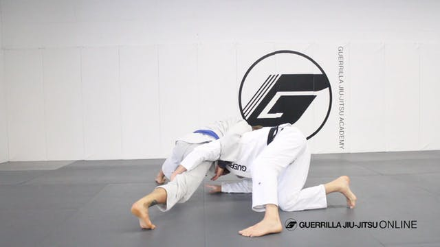 Escape side control to half guard usi...
