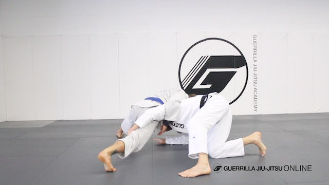 Escape side control to half guard using the single leg.