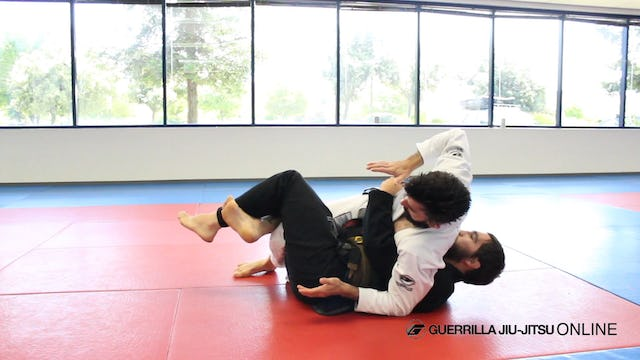 Half Guard: Kimura Grip Back Take from Right Pass