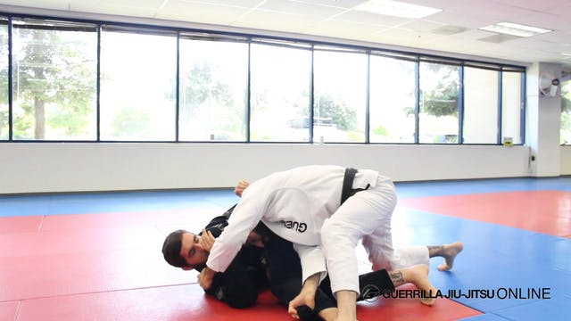 Half Guard: Long Step Pass to V Pass