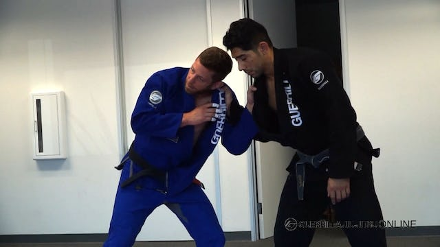 Grip Fighting - Shut down a strong right hand lapel grip