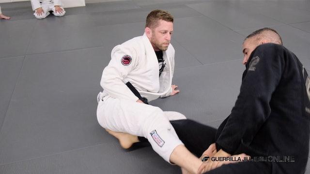 De la Riva Guard - Own the Bottom Leg to Sweep When Opponent Breaks Collar Grip