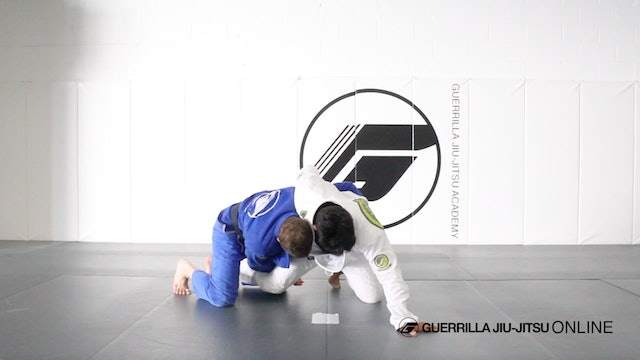 Side Control Escape - Single Leg to Dog Fight Roll Under Sweep