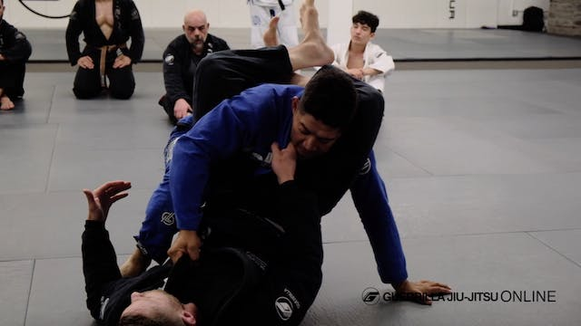 De la Riva Guard Sit Up to Triangle