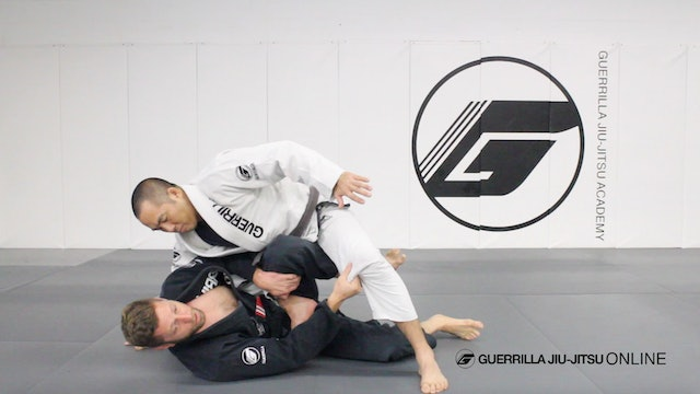 Escaping Knee on Belly Part 1 - Reverse Hip Escape Reversal to Leg Drag