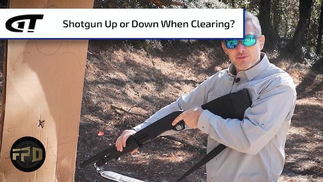 Self-Defense Shotgun Direction When Moving?