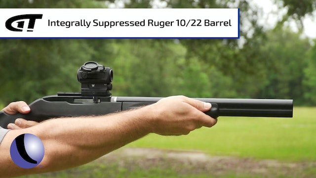 Integrally Suppressed Barrel for Ruger's 10/22 Takedown