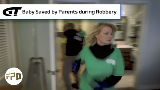 Baby Saved by Parents during Robbery
