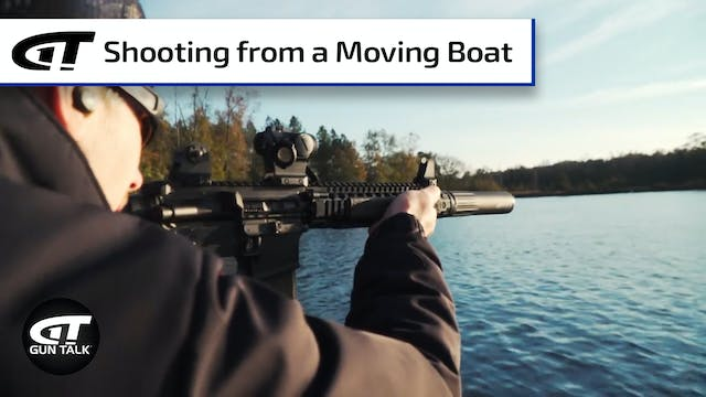 Target Shooting from a Moving Boat
