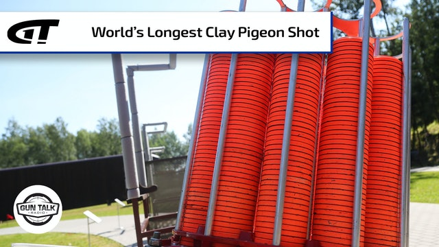Steve Gould and the World's Longest Clay Pigeon Shot