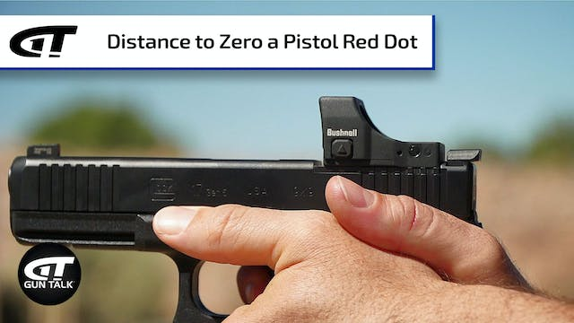 Zeroing a Red Dot Sight