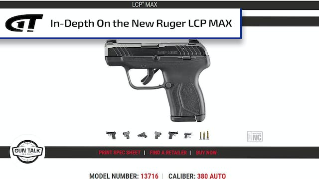 In-Depth on the Ruger LCP MAX