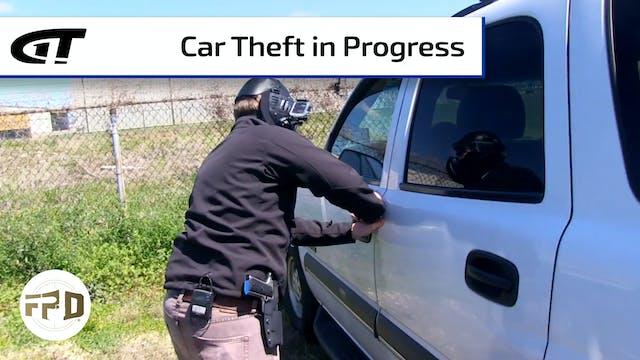 Man Surprises Car Thief