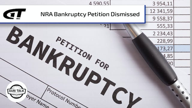 NRA Bankruptcy Petition Dismissed