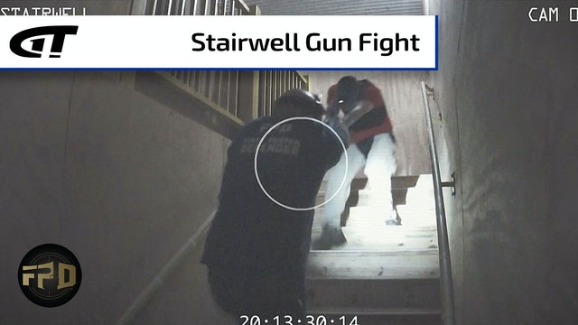 Gun Battle in a Stairwell