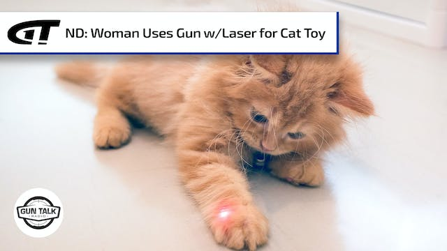 Woman Uses Laser-Equipped Gun as Cat ...