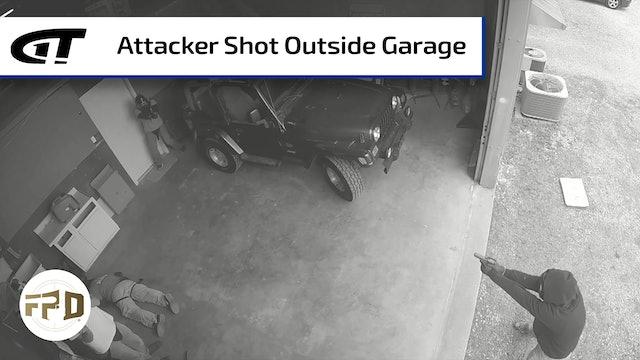 Attacker Shot Outside Garage