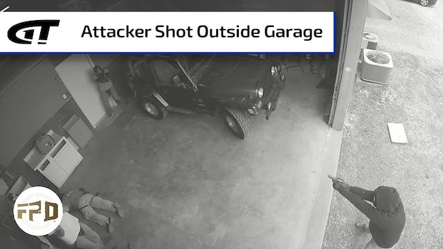 Attacker Shot Outside Garage