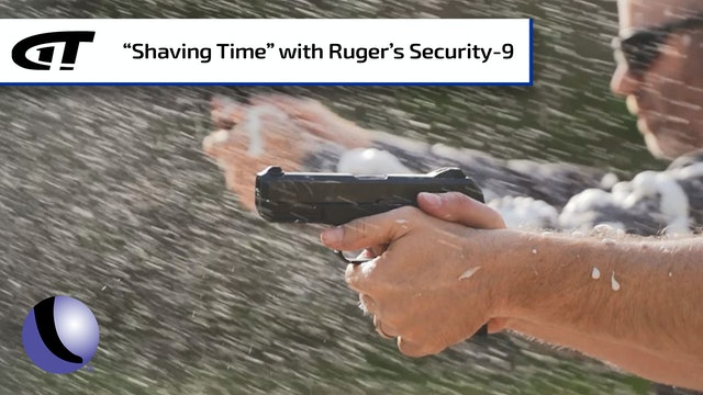 Shooting Shaving Cream with Ruger's Security-9