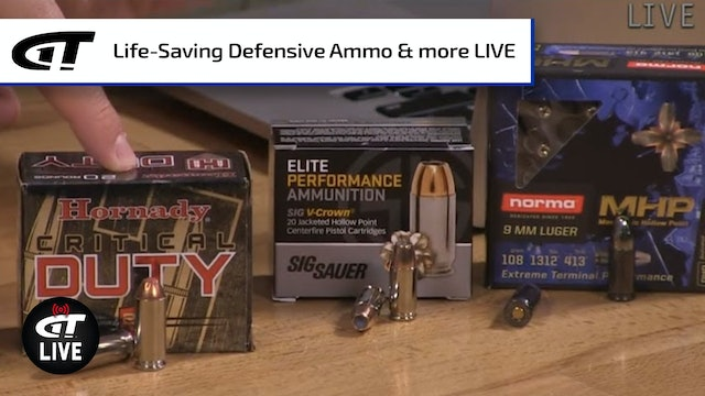 Life-Saving Ammo; Win a Prize Pack with Two Guns, Gun Safe, Ammo, & More LIVE