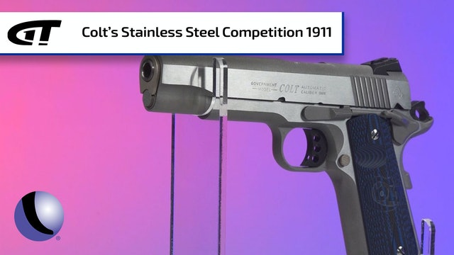 Stainless Steel Colt Competition 1911 Pistol - Good for Carry, too!