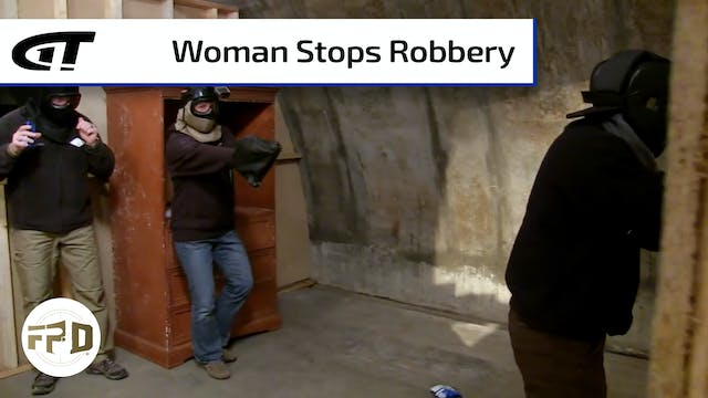 Woman Stops Gas Station Robbery