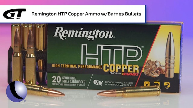 Affordable Remington HTP Copper Ammo loaded with Barnes Bullets