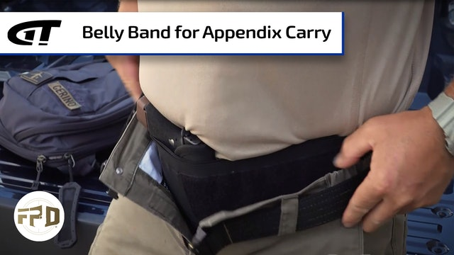 Using a Belly Band to Appendix Carry