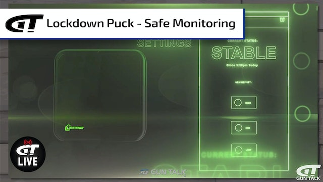 Lockdown Puck - Monitor and Secure Your Gun Safe