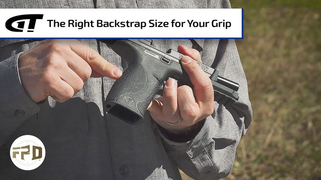 Choosing the Right Backstrap Size for Your Grip