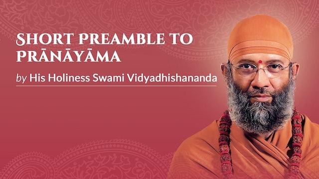 Short Preamble to Prāṇāyāma