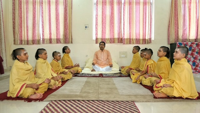 SāmaVeda Singing by Students of Rāṇāyaniya Branch at Vedanidhi