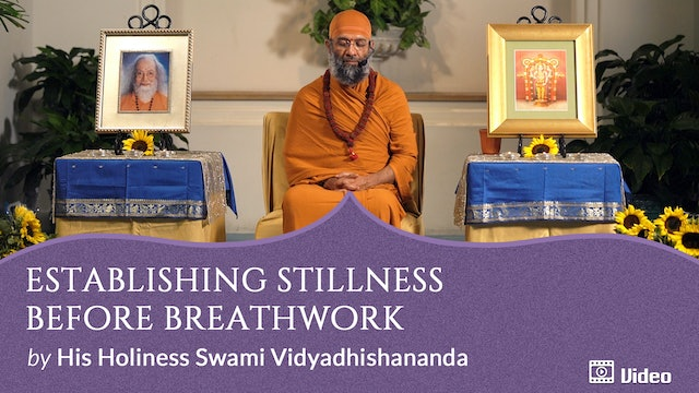 Breathing with Awareness of Emptiness - 1. Establishing Stillness before Breathwork -- Discourse