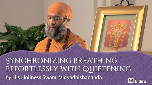 Breathing with Awareness of Emptiness - 4. Synchronizing Breathing Effortlessly with Quietening -- Guided Practice