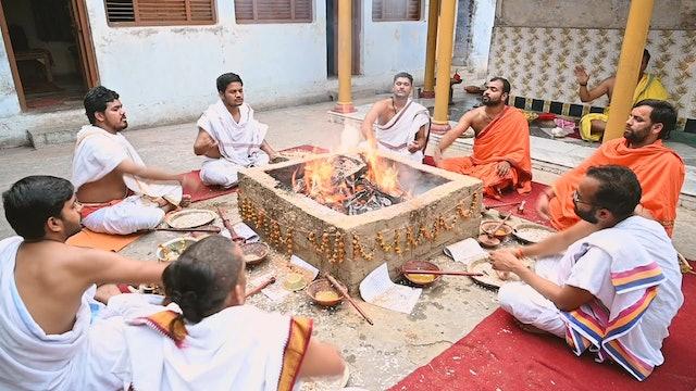 Offerings to Fire Invoking Guardian Deity