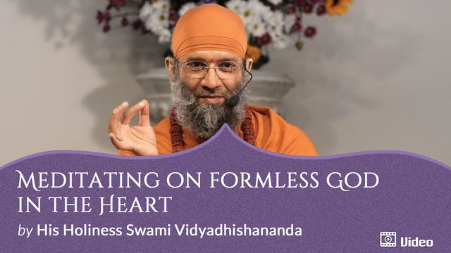 Meditating on Formless God in the Heart