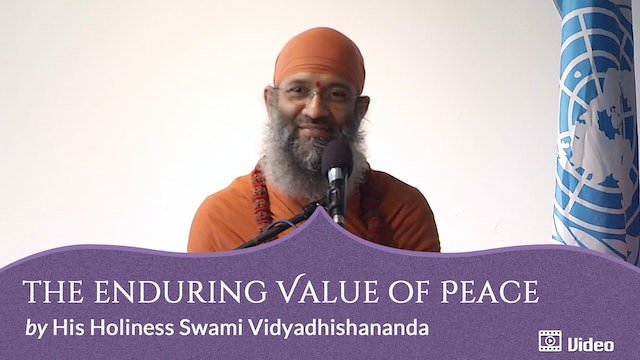 The Enduring Value of Peace