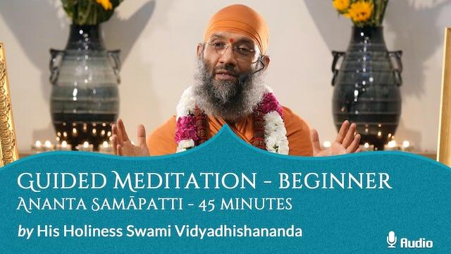Guided Meditation - Beginner - Ananta Samapatti - 45 minutes