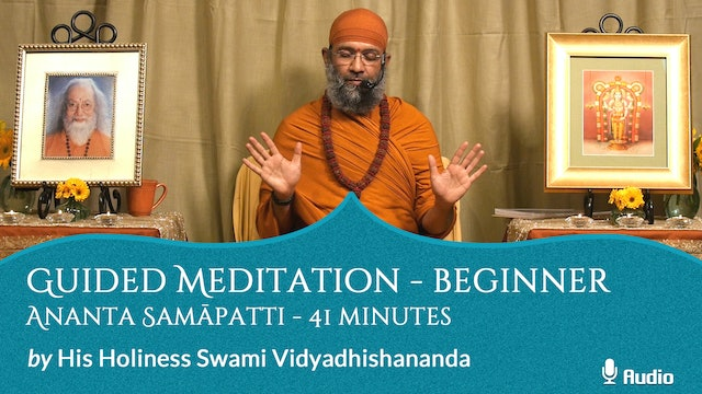 Guided Meditation - Beginner - Ananta Samāpatti - 41 minutes - Free