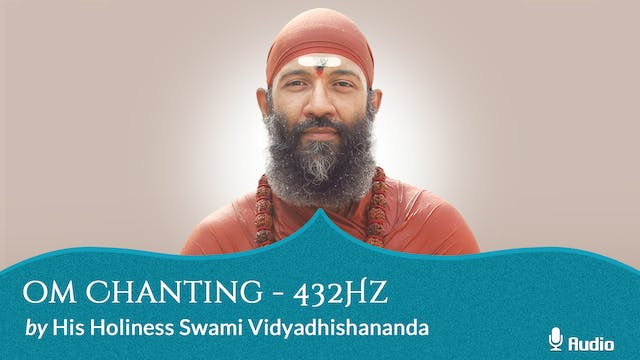 Oṃ Chanting at 432Hz - 30 minutes - Free