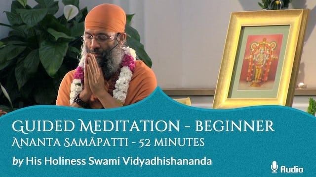 Guided Meditation - Beginner - Ananta Samāpatti - 52 minutes