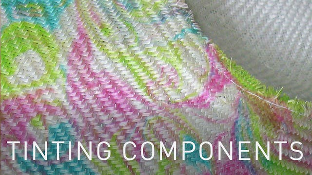 Tinting Millinery Components