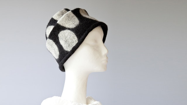 Handfelted Concertina Hat