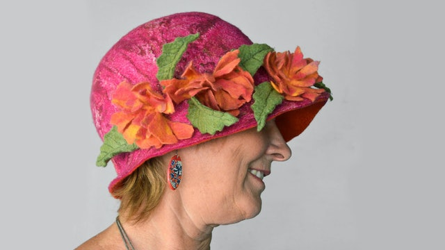 Handfelted Felt Cloche Hat