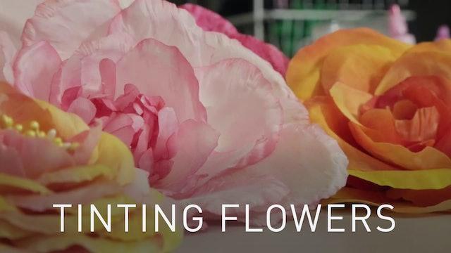 Tinting Silk Flowers