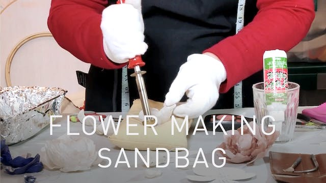 Flower Making Sandbag